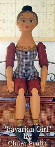шарнирная кукла с пуговичным креплением
