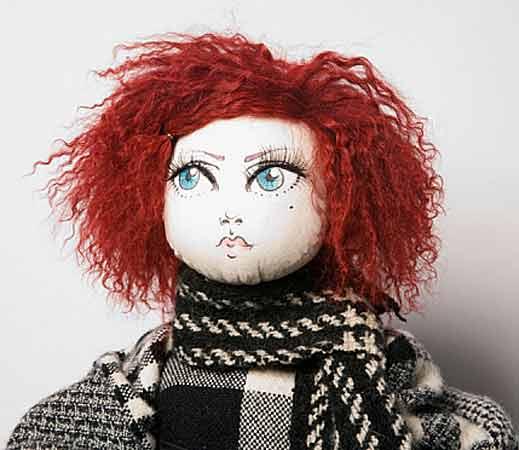 волосы куклы из козьего тресса