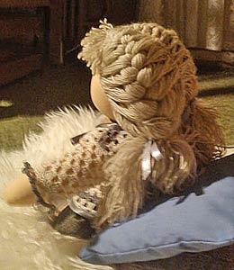 волосы из пряжи