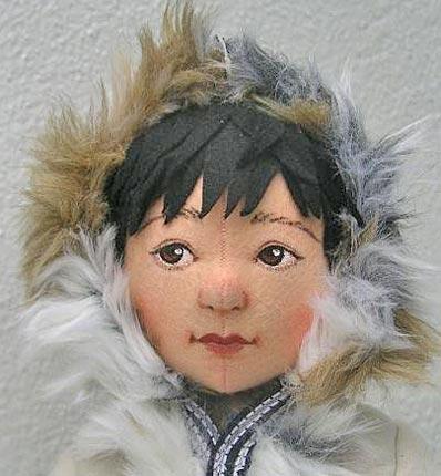 Волосы для куклы из фетра