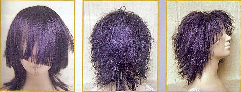 волосы из распущенной ленты