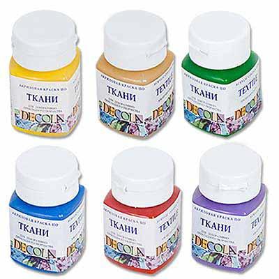 Акриловая краска для росписи по ткани