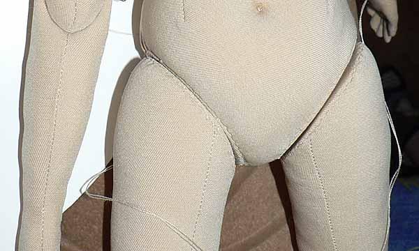 Пришитые ноги, вид спереди