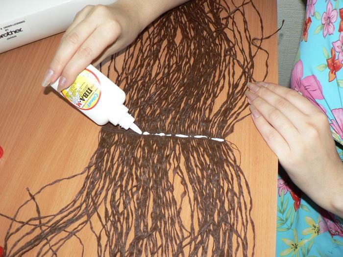 Как сделать волосы кукле мужчине